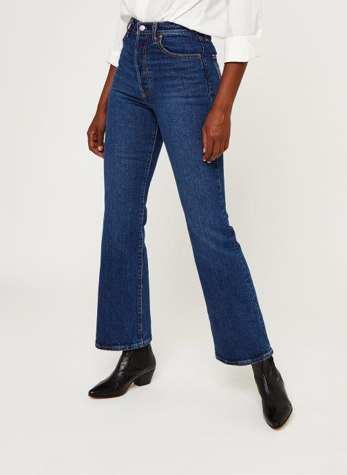 Vêtements Levi's Ribcage Boot Bleu vue détail/paire