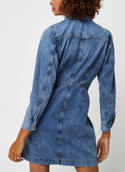 Vêtements Levi's Ellie Denim Dress Bleu vue portées chaussures
