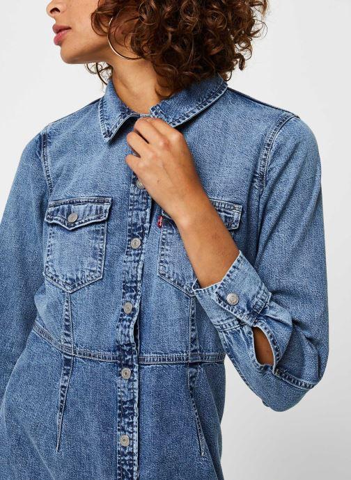 Vêtements Levi's Ellie Denim Dress Bleu vue face