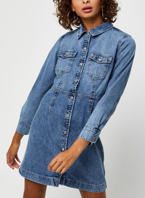 Vêtements Levi's Ellie Denim Dress Bleu vue droite