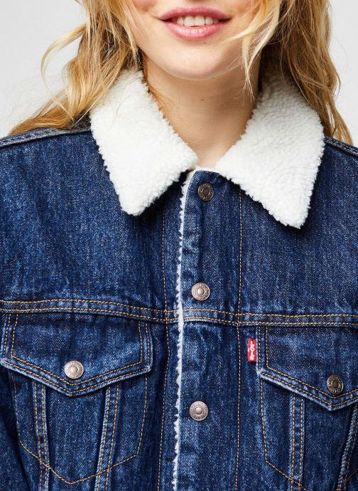 Vêtements Levi's Ex-Bf Sherpa Trucker Bleu vue face