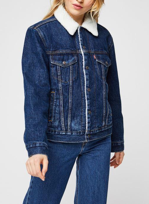 Vêtements Levi's Ex-Bf Sherpa Trucker Bleu vue droite