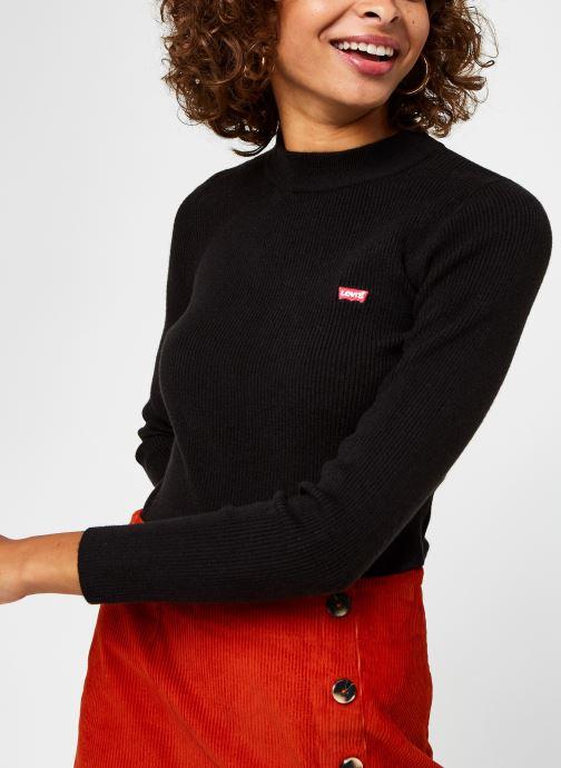 Kleding Levi's Crew Rib Sweater Zwart detail