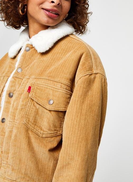 Vêtements Levi's New Heritage Cord Truckr Marron vue face