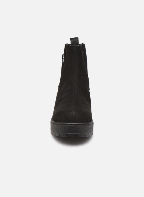 Stiefeletten & Boots Victoria Atalaia Chelsea Antelin schwarz schuhe getragen