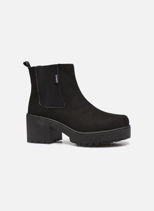Stiefeletten & Boots Victoria Atalaia Chelsea Antelin schwarz ansicht von hinten