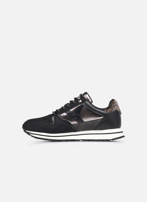 Sneaker Victoria Cometa Multimaterial Br schwarz ansicht von vorne