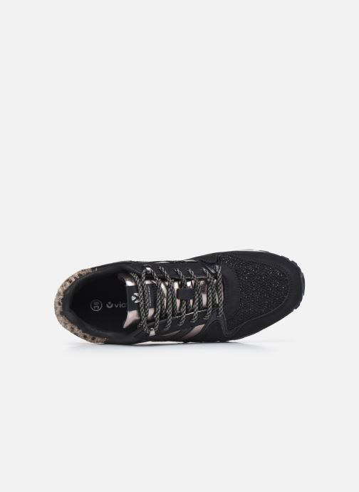 Sneaker Victoria Cometa Multimaterial Br schwarz ansicht von links