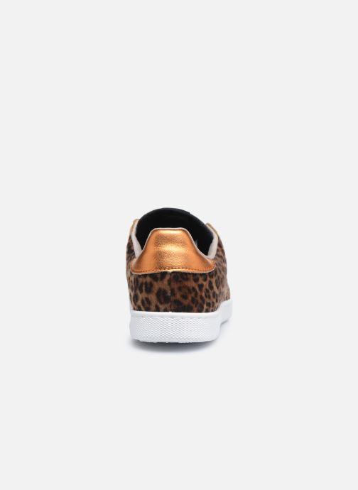 Baskets Victoria Tenis Animal Print Marron vue droite