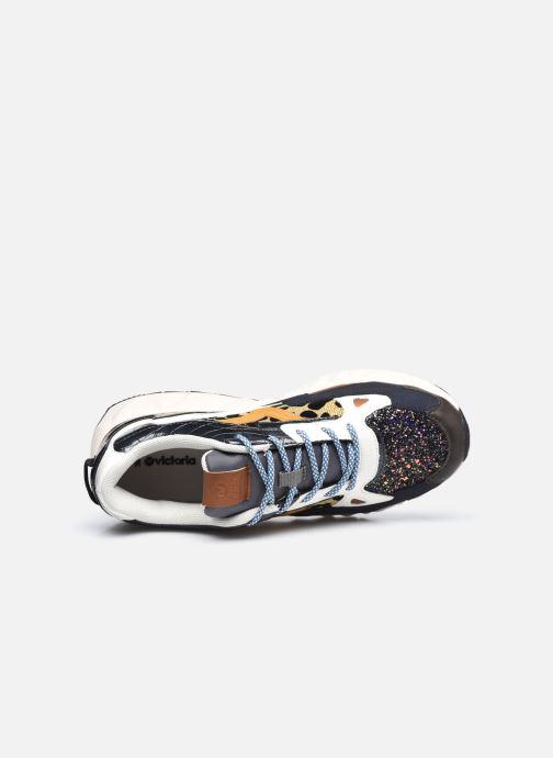 Sneaker Victoria Arista Multimaterial schwarz ansicht von links