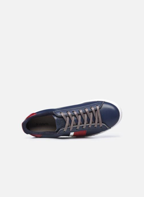 Sneakers Victoria Tenis Piel Vegana Detall Azzurro immagine sinistra