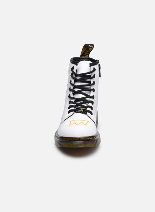 Stivaletti e tronchetti DR. Martens 1460 Basquiat J Bianco modello indossato