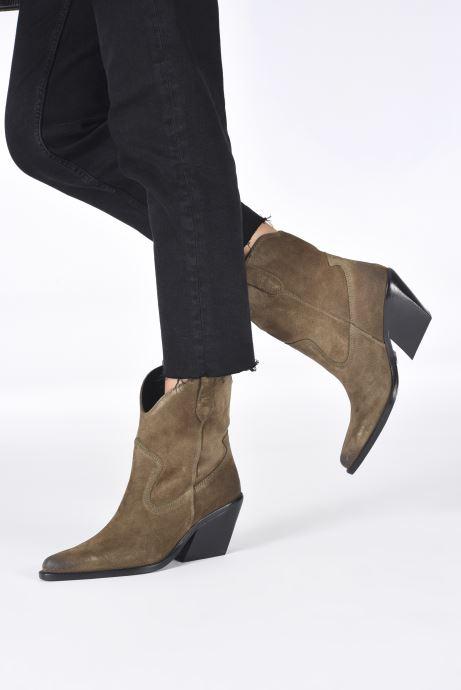 Stiefeletten & Boots Bronx LOW-KOLE 34155 grün ansicht von unten / tasche getragen