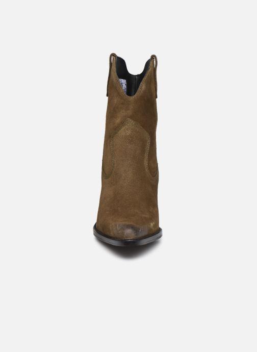 Stiefeletten & Boots Bronx LOW-KOLE 34155 grün schuhe getragen