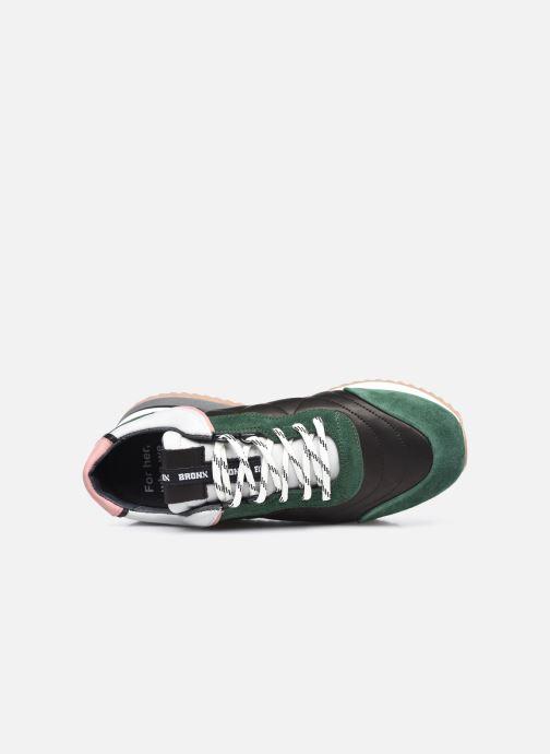 Sneaker Bronx NOLA-ISA grün ansicht von links