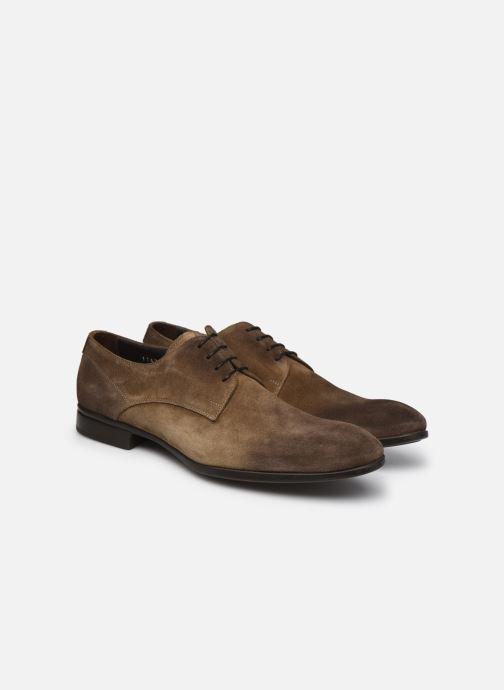 Zapatos con cordones Doucal's DU1142 Marrón vista 3/4