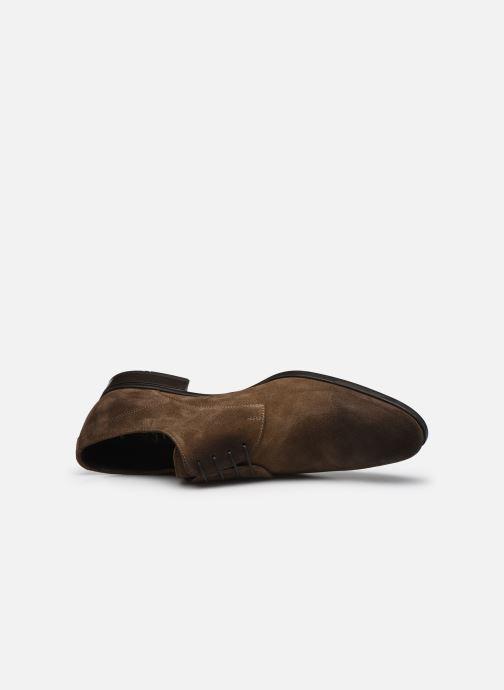 Zapatos con cordones Doucal's DU1142 Marrón vista lateral izquierda