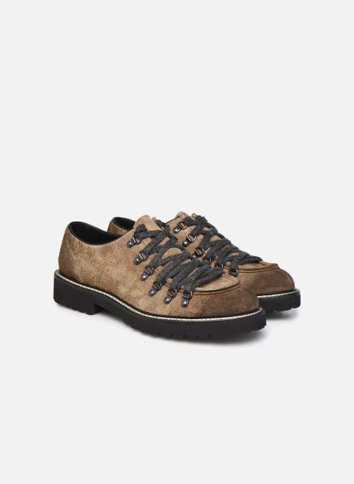 Zapatos con cordones Doucal's DU2736 Marrón vista 3/4