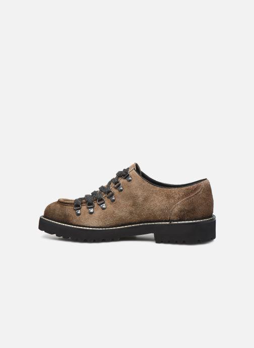 Zapatos con cordones Doucal's DU2736 Marrón vista de frente