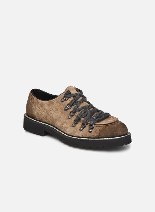 Zapatos con cordones Doucal's DU2736 Marrón vista de detalle / par