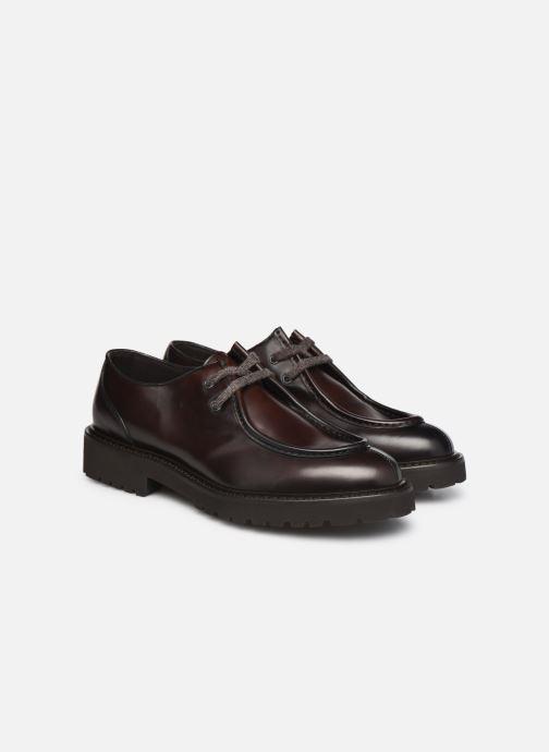 Zapatos con cordones Doucal's DU2737 Marrón vista 3/4