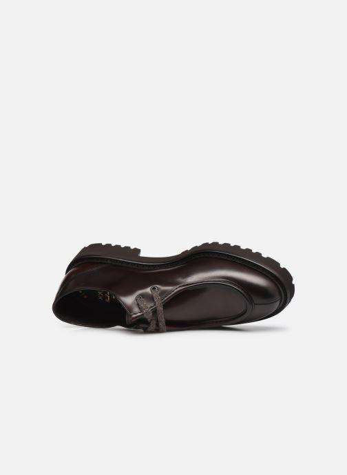 Zapatos con cordones Doucal's DU2737 Marrón vista lateral izquierda