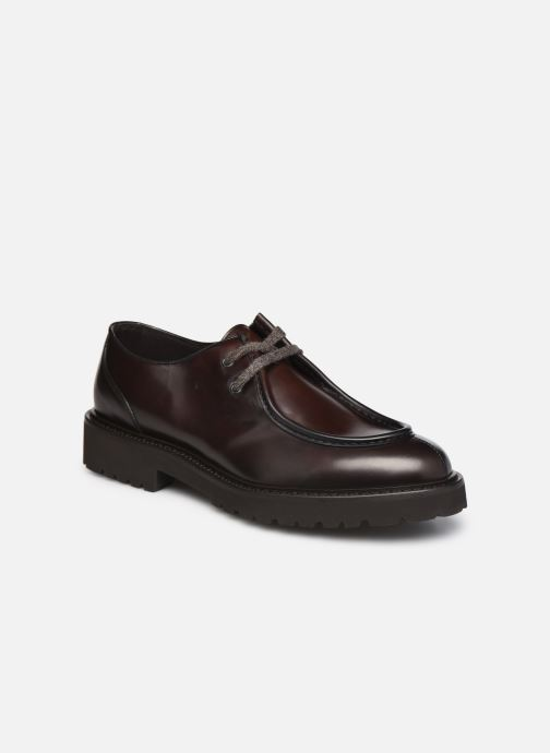 Zapatos con cordones Doucal's DU2737 Marrón vista de detalle / par