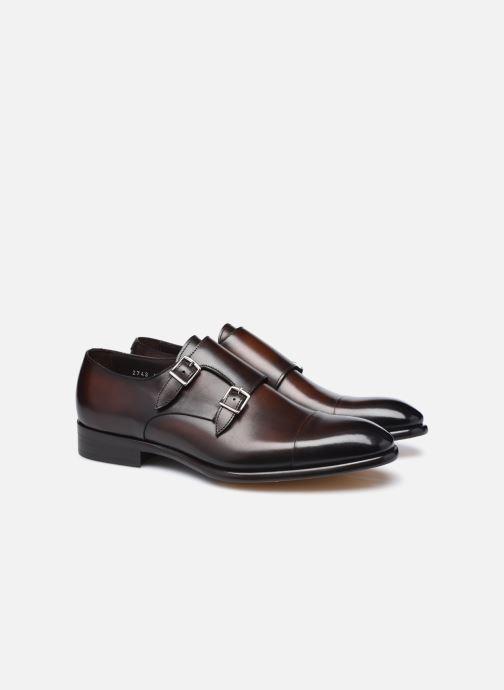 Chaussure à boucle Doucal's DU2743 Marron vue 3/4