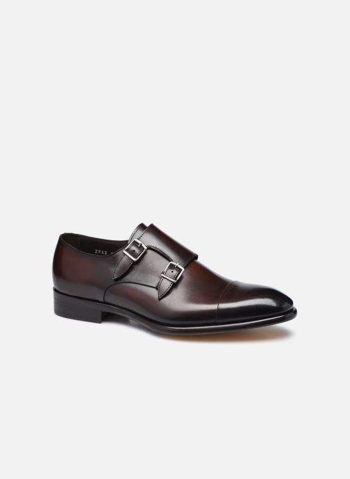 Chaussure à boucle Doucal's DU2743 Marron vue détail/paire