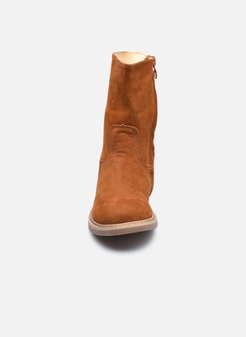 Bottes Shoesme Crepe Marron vue portées chaussures
