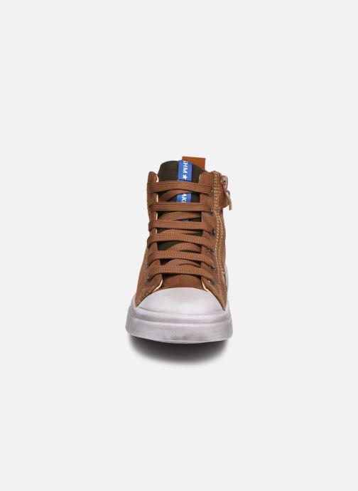 Sneakers Shoesme Shoesme Laces Marrone modello indossato