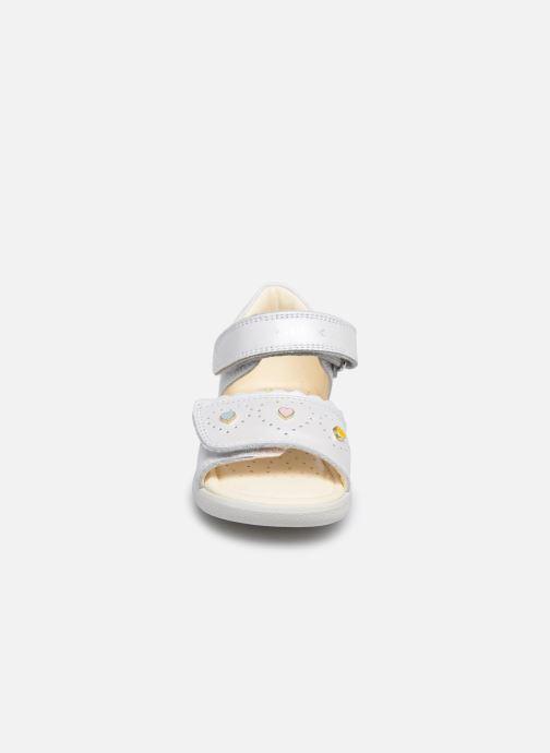 Sandalen Geox B Sandal Alul Girl B021YA weiß schuhe getragen