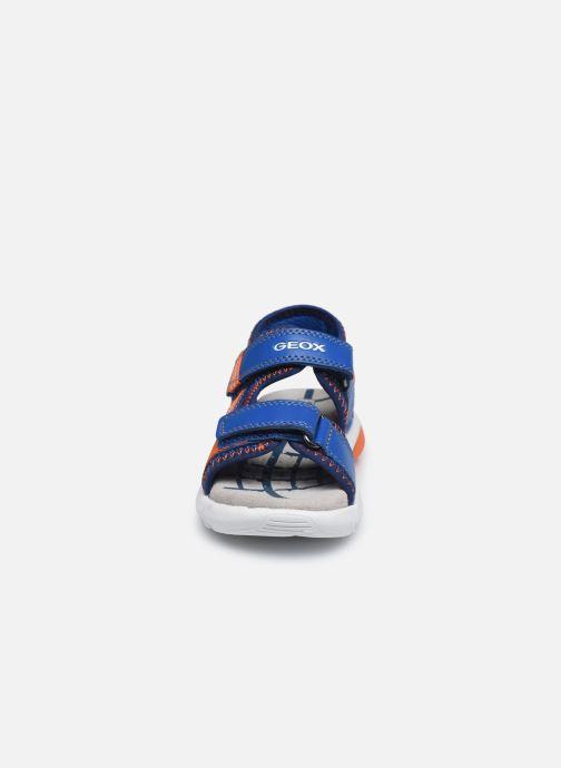 Sandales et nu-pieds Geox B Sandal Flexyper Bo Bleu vue portées chaussures