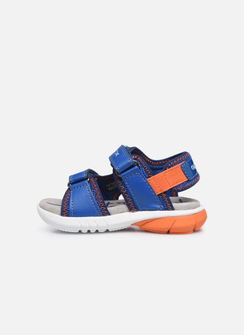 Sandales et nu-pieds Geox B Sandal Flexyper Bo Bleu vue face