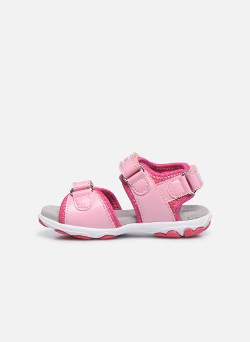 Sandales et nu-pieds Geox B Sandal Cuore B0290A Rose vue face