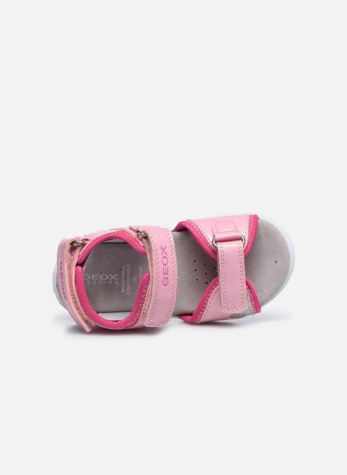 Sandalen Geox B Sandal Cuore B0290A rosa ansicht von links