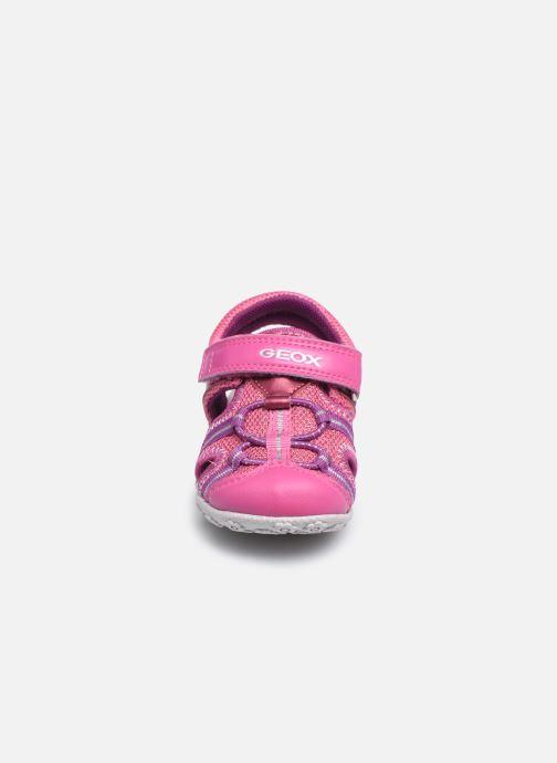 Sandalen Geox B Sandal Roxanne B02D9B rosa schuhe getragen