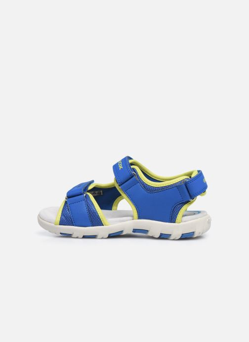 Sandales et nu-pieds Geox Jr Sandal Pianeta J0264B Bleu vue face