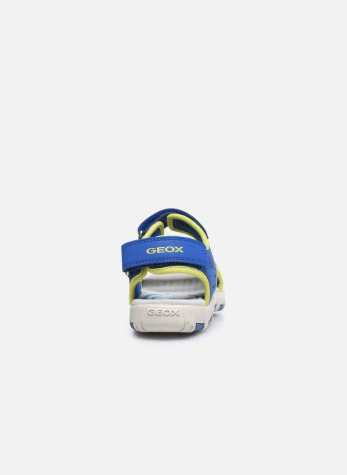 Sandales et nu-pieds Geox Jr Sandal Pianeta J0264B Bleu vue droite