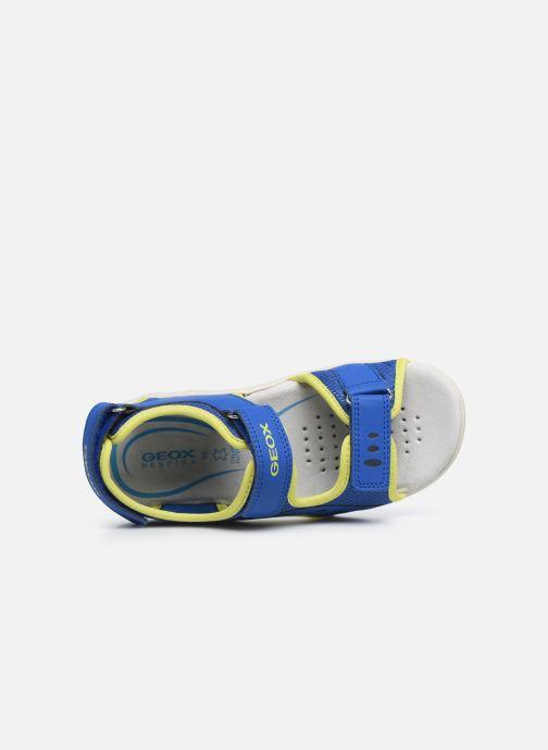 Sandales et nu-pieds Geox Jr Sandal Pianeta J0264B Bleu vue gauche