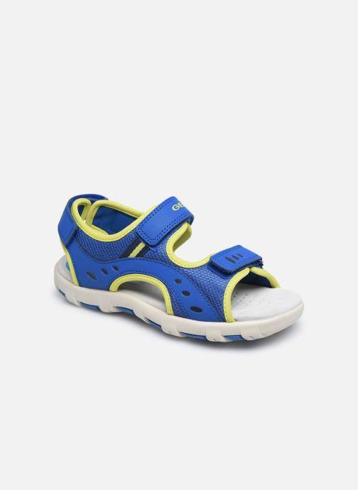 Sandales et nu-pieds Geox Jr Sandal Pianeta J0264B Bleu vue détail/paire