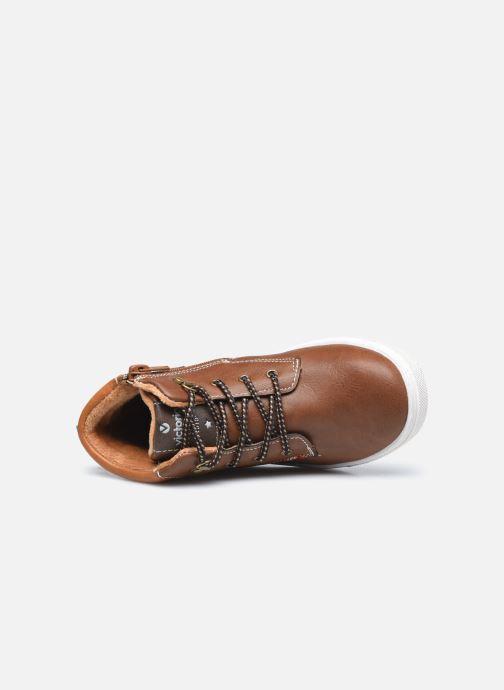 Sneaker Victoria Puzzle piel vegana braun ansicht von links