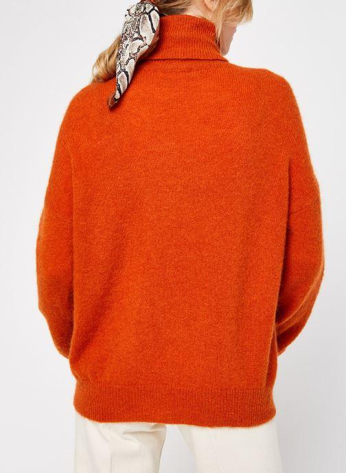 Vêtements MOSS COPENHAGEN Mohair Roll Neck Orange vue portées chaussures
