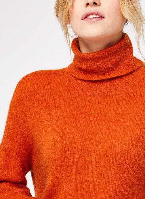Vêtements MOSS COPENHAGEN Mohair Roll Neck Orange vue face