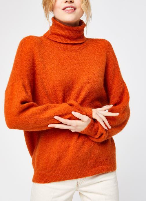 Vêtements MOSS COPENHAGEN Mohair Roll Neck Orange vue droite