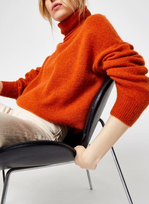 Vêtements MOSS COPENHAGEN Mohair Roll Neck Orange vue détail/paire
