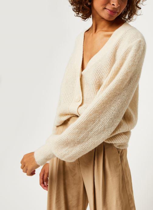 Vêtements MOSS COPENHAGEN Sabella Cardigan Beige vue détail/paire