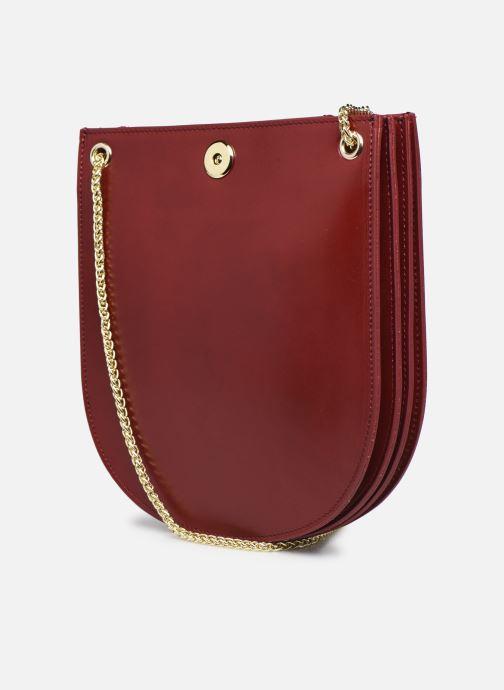 Handtaschen Sabrina CORINE rot ansicht von rechts
