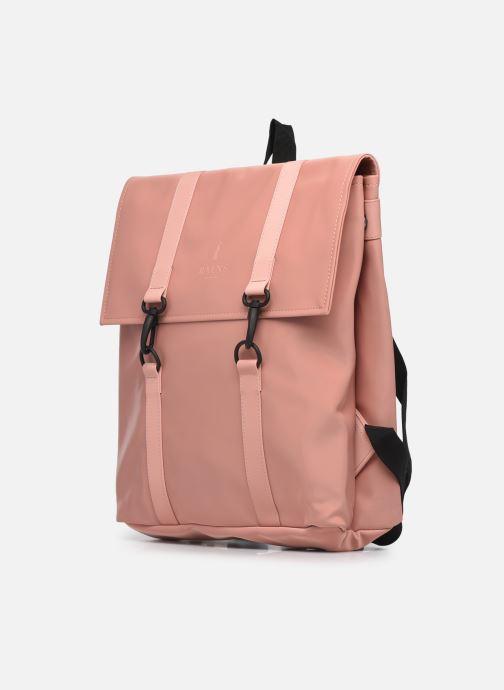 Rucksäcke Rains  MSN Bag Mini rosa schuhe getragen