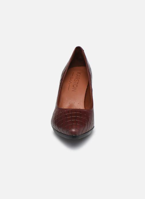 Zapatos de tacón Karston MYCHA Rojo vista del modelo